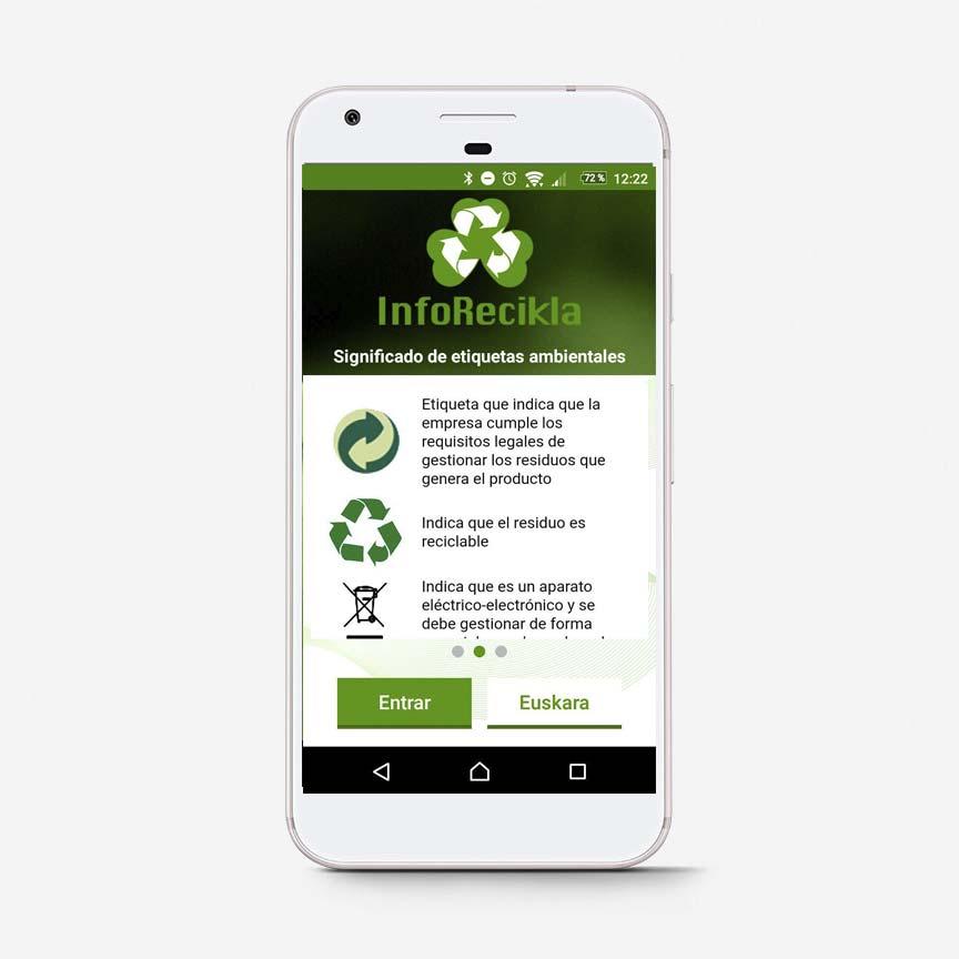 App Inforecikla mensajes medioambientales