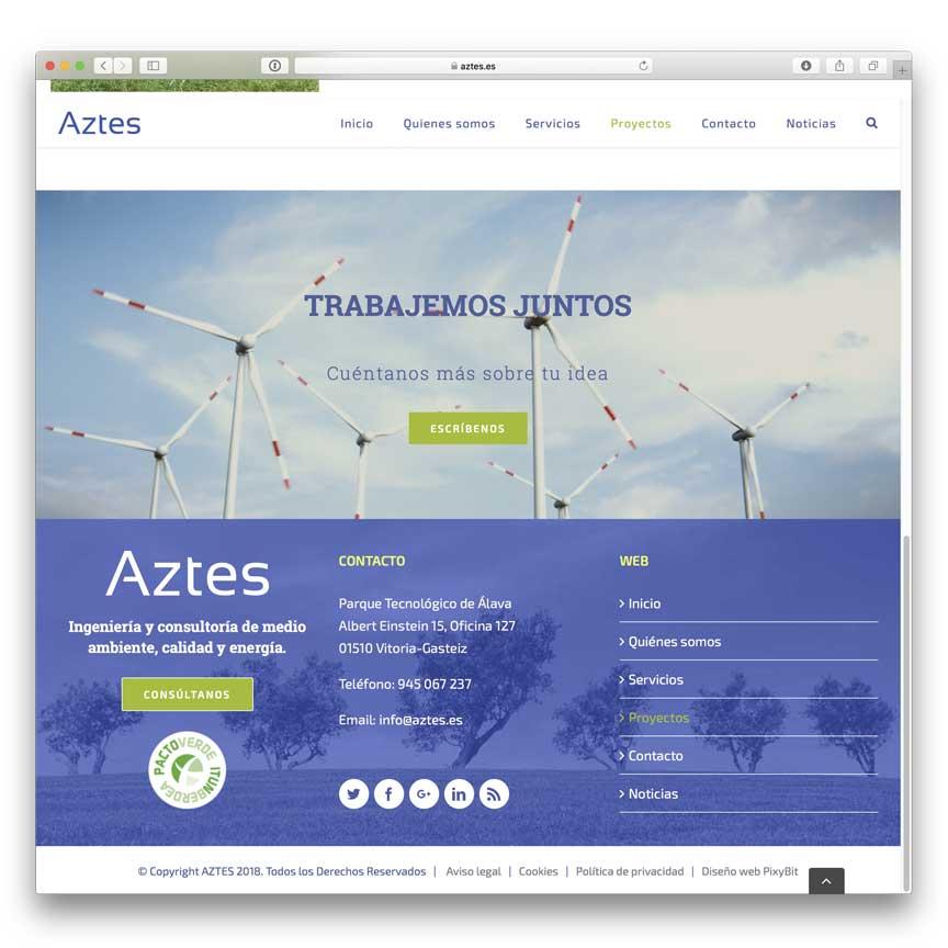 Diseño web Aztes