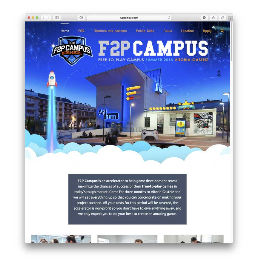 Diseño web F2P Campus
