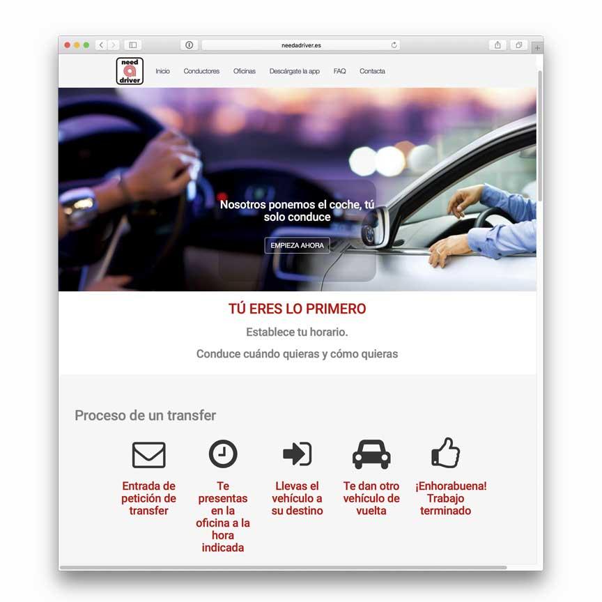 Diseño Web e intranet NeedaDriver