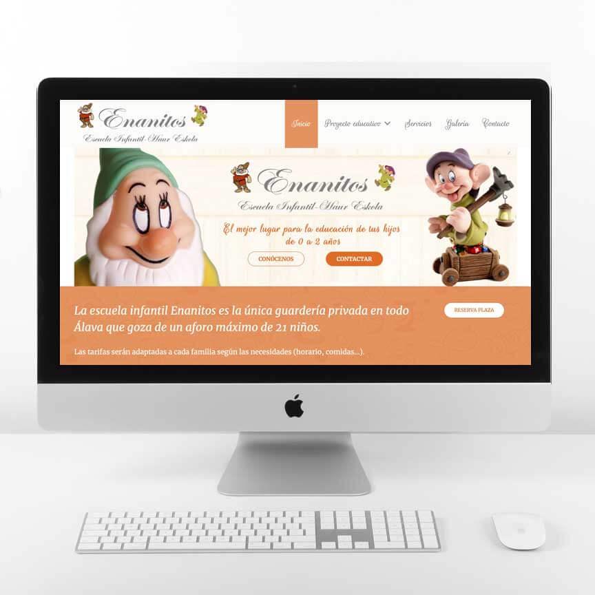 Diseño Web Escuela Infantil Enanitos