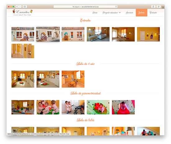 Diseño Web Escuela Infantil Enanitos - Instalaciones
