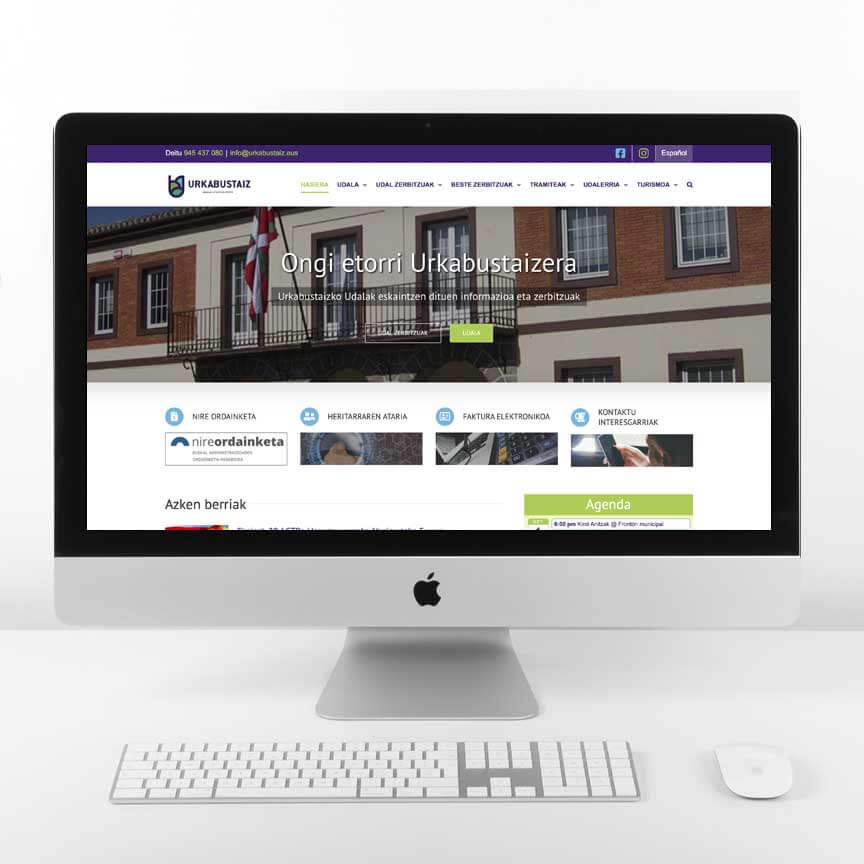 Diseño web Ayuntamiento de Urkabustaiz
