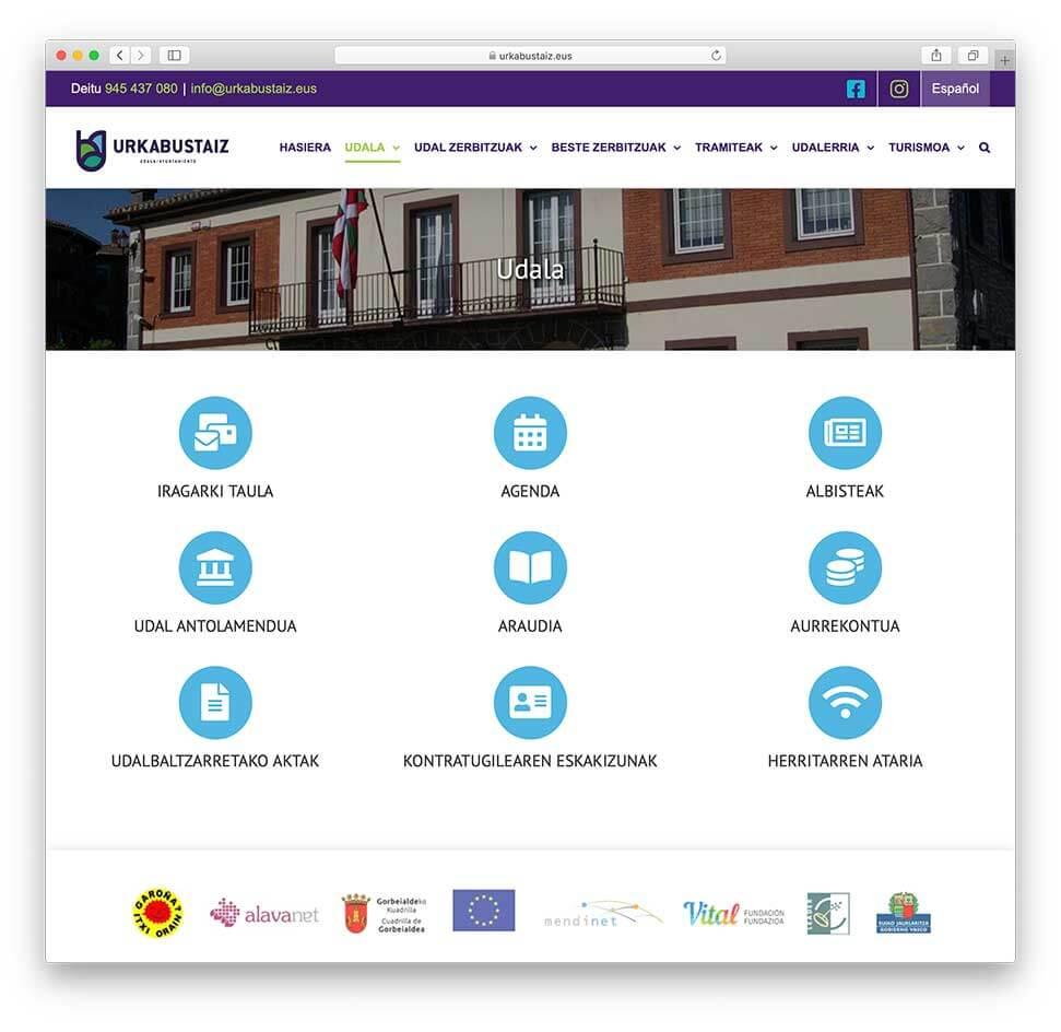 Diseño web Ayuntamiento de Urkabustaiz-Ayuntamiento