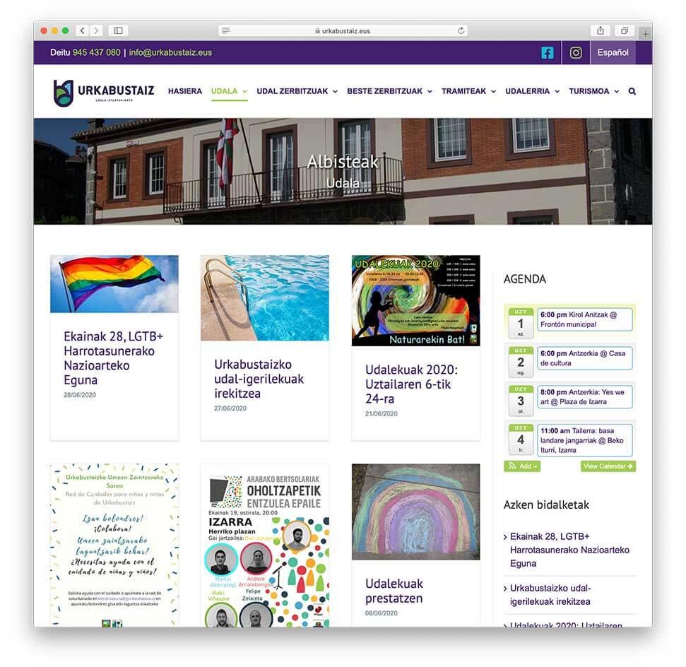 Diseño Web Ayuntamiento de Urkabustaiz - Blog